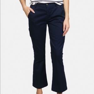 Frame Le Crop Mini Boot Chinos in Carbon Blue